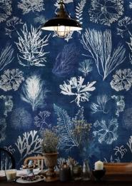 Luxebehang Algae blauw