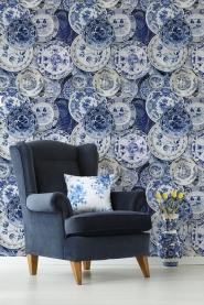 Delfts porcelein behang