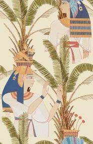 Egyptische koninginnen behang wit