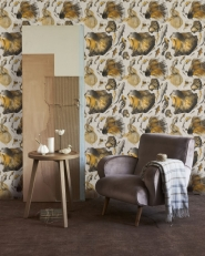 Premium wallpaper Goldfish ivory