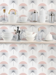 LAVMI wallpaper Fluff grey-pink