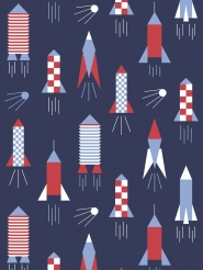 LAVMI wallpaper rocket dark blue