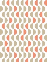 LAVMI behang Lentils beige en rode golven