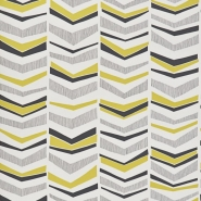 Miss Print wallpaper Chevron Mustard flower