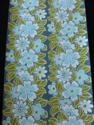 blue and white flowers on a blue background