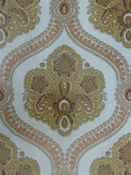 brown and red damask wallpaper