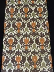 oranje bruin groen medaillon behangpapier