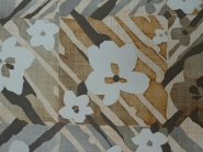 vintage bloemenbehang bruin grijs