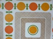 oranje bruin geometrisch behang