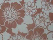 vintage bloemenbehang rood-bruin