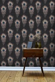Pauwenveer behang