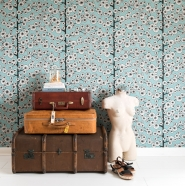 Miss Print wallpaper Cotton tree blue