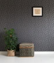 papier peint Miss Print Palm Tree gris et cuivre
