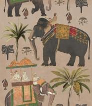 De olifanten processie behang