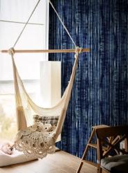 Luxebehang Tie Dye Indigo