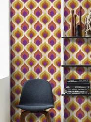 Ottomaans patroon geel paars