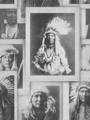 Indiaanse opperhoofden zwart wit