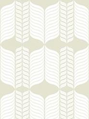 figure blanc sur un fond gris/beige