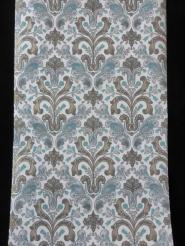 blauw grijs goud medaillon behang