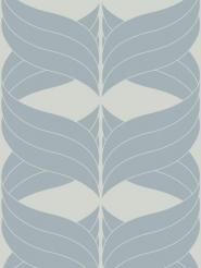 figure bleu sur on fond gris clair