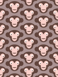 LAVMI behang voor kinderen met aapjes