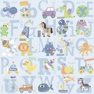 alphabet kids wallpaper blue
