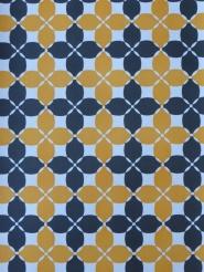 zwart oranje geometrisch behang