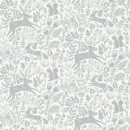 Scion Kelda behang dieren in het bos grijs