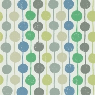 Scion Taimi behang bolletjes grijs-blauw