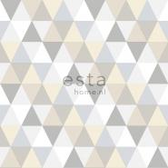 ESTA behang driehoeken grijs beige