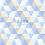 ESTA behang driehoeken blauw