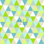 ESTA behang driehoeken groen blauw