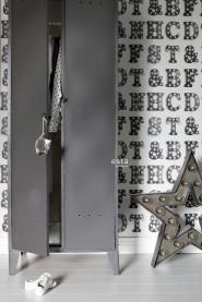 ESTA behang letters met lichtjes wit zwart