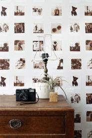 papier peint ESTA photos polaroid sepia