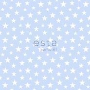 ESTA behang kleine sterretjes lichtblauw