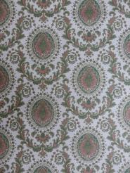 green red medallion wallpaper