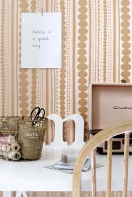 ESTA behang kralen roze koper
