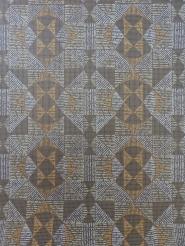 bruin geometrisch vintage behang