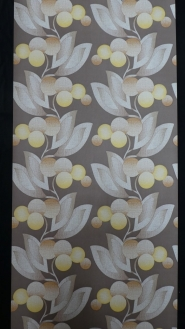 brown and yellow floral vintage wallpaper