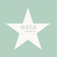 ESTA behang grote ster muntgroen