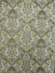 vintage damask wallpaper yellow grey