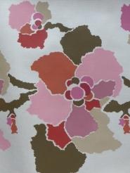grote roze en grijze bloemen - beschadigd!