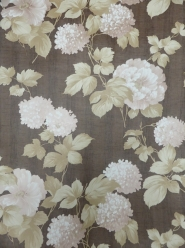 brown flowers vintage wallpaper