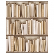 ivory bookshelve wallpaper