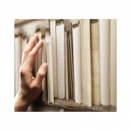 ivoor boekenkast behang