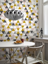 triangles rose gris ochre poster LAVMI