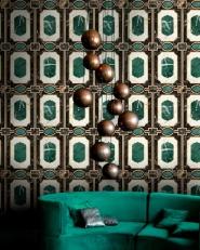 Luxebehang Waldorf Emerald