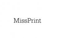 papier peint Miss Print Ditto bleu