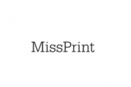 Miss Print behang Fern zwart