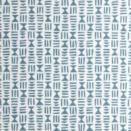 Miss Print behang Hieroglyph blauw